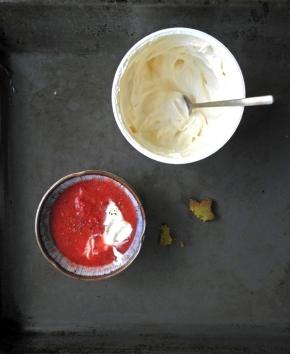 compote de fraise biscuit matcha